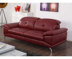 Canapé 3 places en cuir de buffle KENNEDY - Rouge
