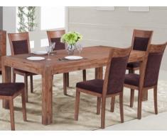 Table à manger OAKLAND - 8 couverts - Bois et métal - Merisier