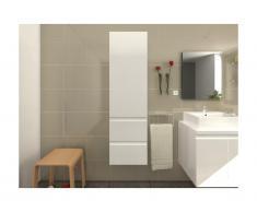 Colonne de salle de bain LAVITA - blanc laqué