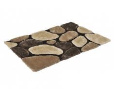 Tapis shaggy PIETRA chocolat - polyester - 160*230cm