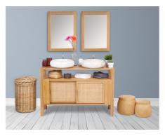 Meuble de salle de bain en bois teck 120cm - MALAKA