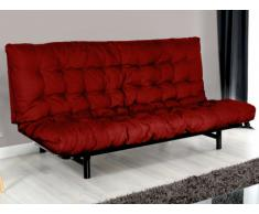 Canapé clic clac JOSIE et futon MODULO - Noir et rouge