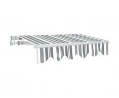 Store rétractable manuel PALEAS 3,95 x 2,5m - gris et blanc