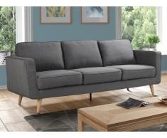 Canapé 3 places DOVALI en tissu - Gris