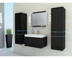 Ensemble NAOMI à leds - meubles de salle de bain - laqué noir