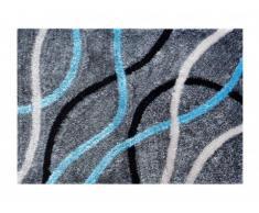 Tapis motifs géométriques PUEBLA - 100% polyester -120 x 170 cm - gris