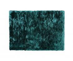 Tapis shaggy DOLCE - Polyester - 120 x 170 cm - vert pinède