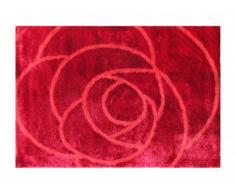 Tapis ROSERA - 100% Polyester - 160 x 230 cm - Rouge