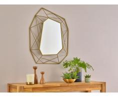 Miroir mural géométrique AZAEL - L56xH74 cm - Métal - Laiton