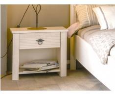 Chevet BLANKA - 1 tiroir - Finition chêne blanchi