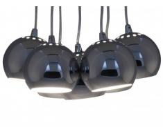 Suspension grappe VIVARA - métal - 34 x 34 x 120 cm - couleur chrome