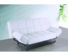 Canapé clic-clac en simili ESPOO - Blanc