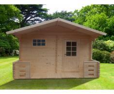 Sauna d'extérieur 4/5 places KEVEREI III - 2 pièces - L400*H246*P220cm