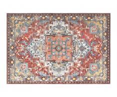 Tapis oriental KALYAN - 200 x 290 cm - Rouge et bleu