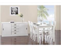 Pack Meubles GUERANDE - Buffet, table et 4 chaises - Pin blanc