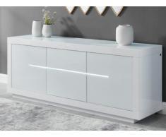 Buffet HARRY - 3 portes - LEDs - MDF Blanc laqué