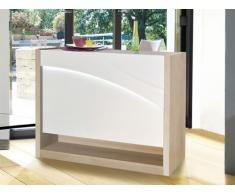 Meuble de bar ARBORESCENCE - MDF laqué blanc & chêne - LEDs