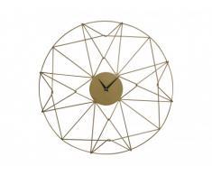 Horloge géométrique ACHILLE en fer - D.61 cm - Coloris laiton antique