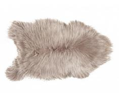Tapis à poils longs en peau de mouton SNUG - 50x110 cm - Taupe