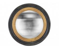Miroir sorcière style art déco BAKER - Résine - 48 x 48 x 7 cm - Noir et doré
