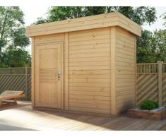 Sauna d'extérieur 3/4 places LAGERTA - 2 pièces - L253*P203*H259 cm