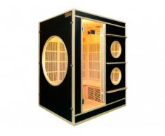Sauna Infrarouge 3/4 places NIVALA - L150*P130*H190 cm - 2250W - Noir