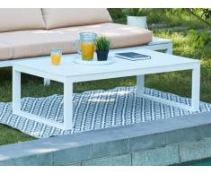 Table basse de jardin relevable SERAM en aluminium blanc