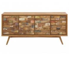 Buffet BELANDRE II - 3 portes & 4 tiroirs - Teck massif & Bois recyclé