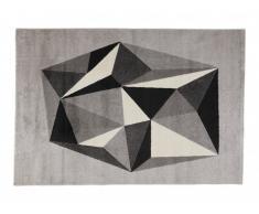 Tapis LYOV - polypropylène - 160x230 cm - Gris