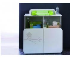 SOLDES - Commode à langer PIPOU - 2 portes - Coloris blanc