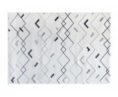 Tapis motifs géométriques BIRLA - 100% Polyester - 120 x 170 cm - Crème