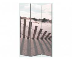 Paravent imprimé 3 pans PLAGE - 120 x 180 cm