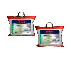 Lot de 2 oreillers DODO ergonomiques à mémoire de forme - 45x70 cm - VEGETAL