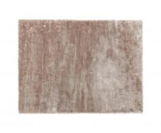 Tapis shaggy effet brillant TAIKO - Grammage : 1650g/m² - 140 x 200 cm - Taupe