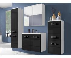 Ensemble CLARENCE - meubles de salle de bain - laqué noir et blanc