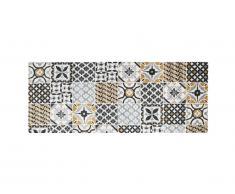 Tapis de couloir effet carreaux de ciment ORNICO - 80 x 200 cm - multicolore