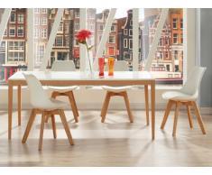 Pack salle à manger 5 produits: Table SEDNA et 4 chaises PADDY - Coloris blanc