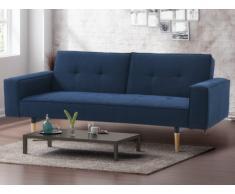 Canapé 3 places clic-clac en tissu SEDUVA - Bleu nuit