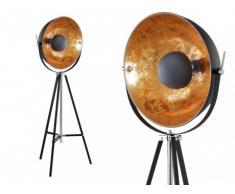 Lampadaire cinéma industriel MOVIE - H. 166 cm - Bicolore intérieur cuivré extérieur noir de la marque INSIDE ART