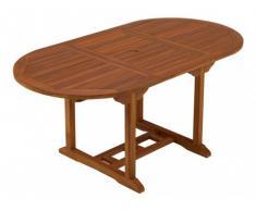 Table à manger de jardin extensible AKUDA - Teck - L 120-170 cm