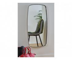 Miroir JESOD - L45 x H92 cm - Métal - Argent