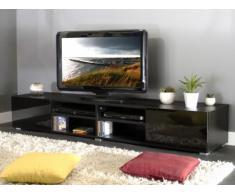 Meuble TV HILAIRE - 4 niches & 2 tiroirs - Coloris noir