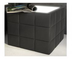 Table de chevet design ELYO - Simili noir avec LEDs