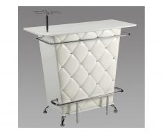 Meuble de bar CLAY - Simili & strass - Blanc