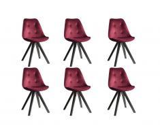 Chaises De Salle A Manger Couleur Rouge Acheter En Ligne Sur Livingo
