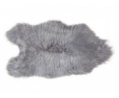 Tapis à poils longs en peau de mouton SNUG - 50x110 cm - Gris