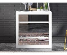 Commode HEIMO - 4 tiroirs - Avec miroirs - Blanc