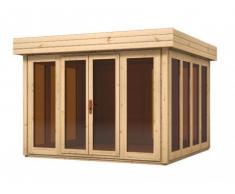 Abri de jardin chalet en bois YUKINO - surface 10.24m² - épaisseur 28 mm