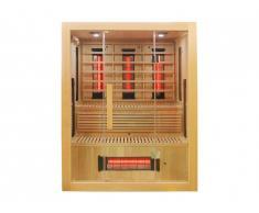 Sauna infrarouge à spectre complet 3/4 places Gamme prestige ARZEN - L150*P120*H190 cm - 2250W