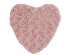 Bouillotte cœur en tissu rose